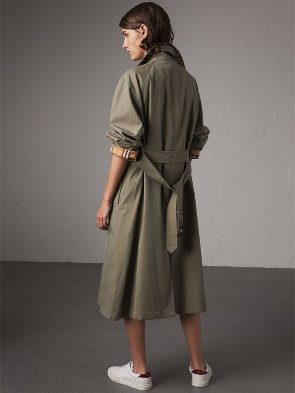 The Brighton – 超長版 Car Coat 大衣 (粉筆綠) - 女款 | Burberry - cell image 2