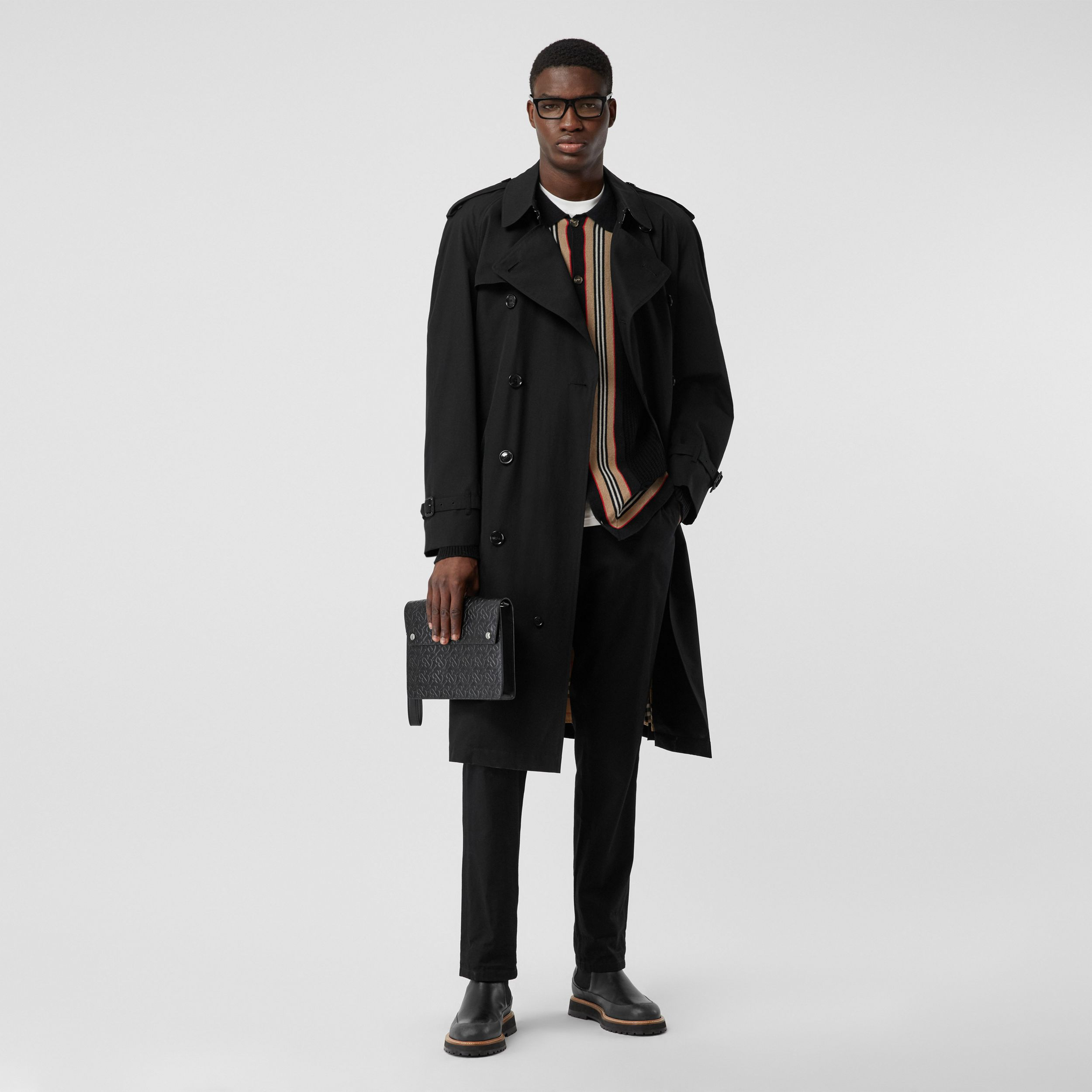 The Westminster Heritage Trench Coat in Black - Men | Burberry United States - 1