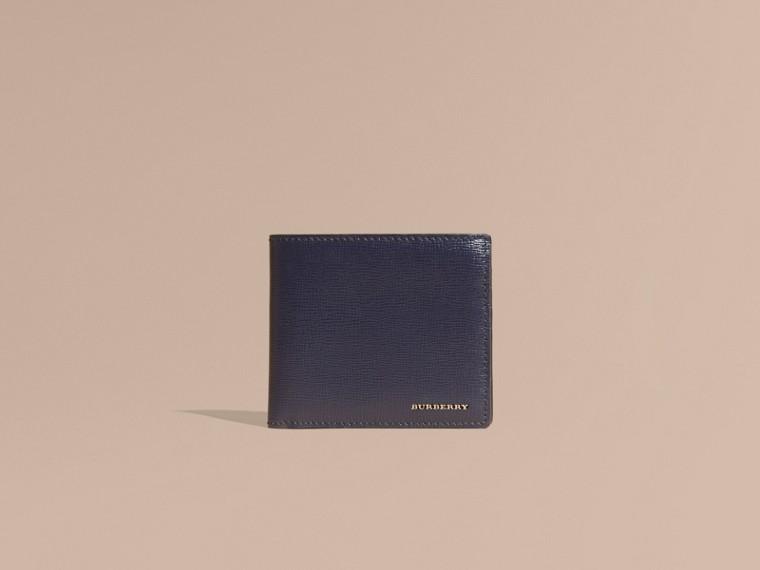 Dark navy London Leather Folding Wallet Dark Navy - cell image 1