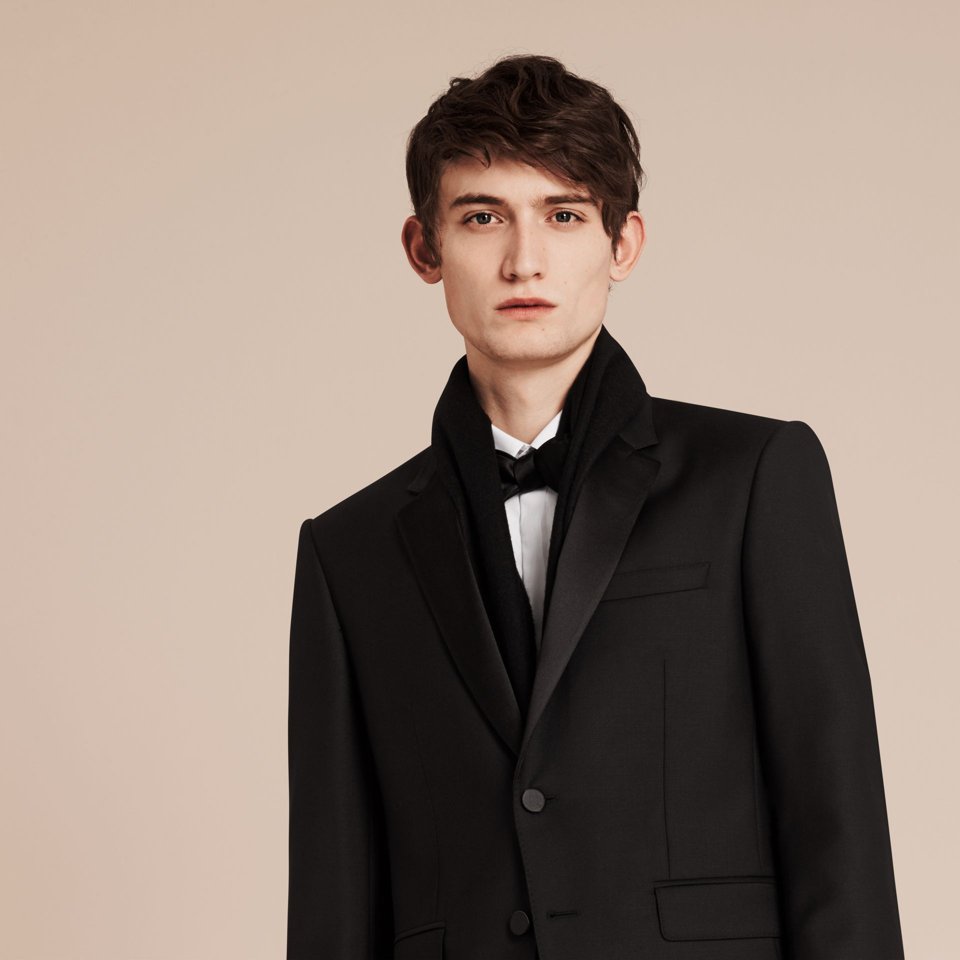 Modern Fit Wool Mohair Half-canvas Tuxedo - Men | Burberry - gallery image 6