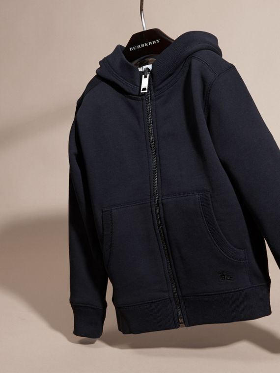 Dark navy Hooded Cotton Top Dark Navy - cell image 2