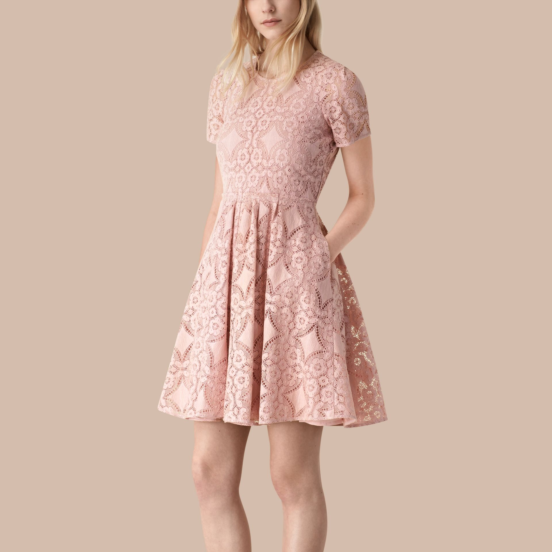 Thistle pink English Lace A-line Dress Thistle Pink - gallery image 1
