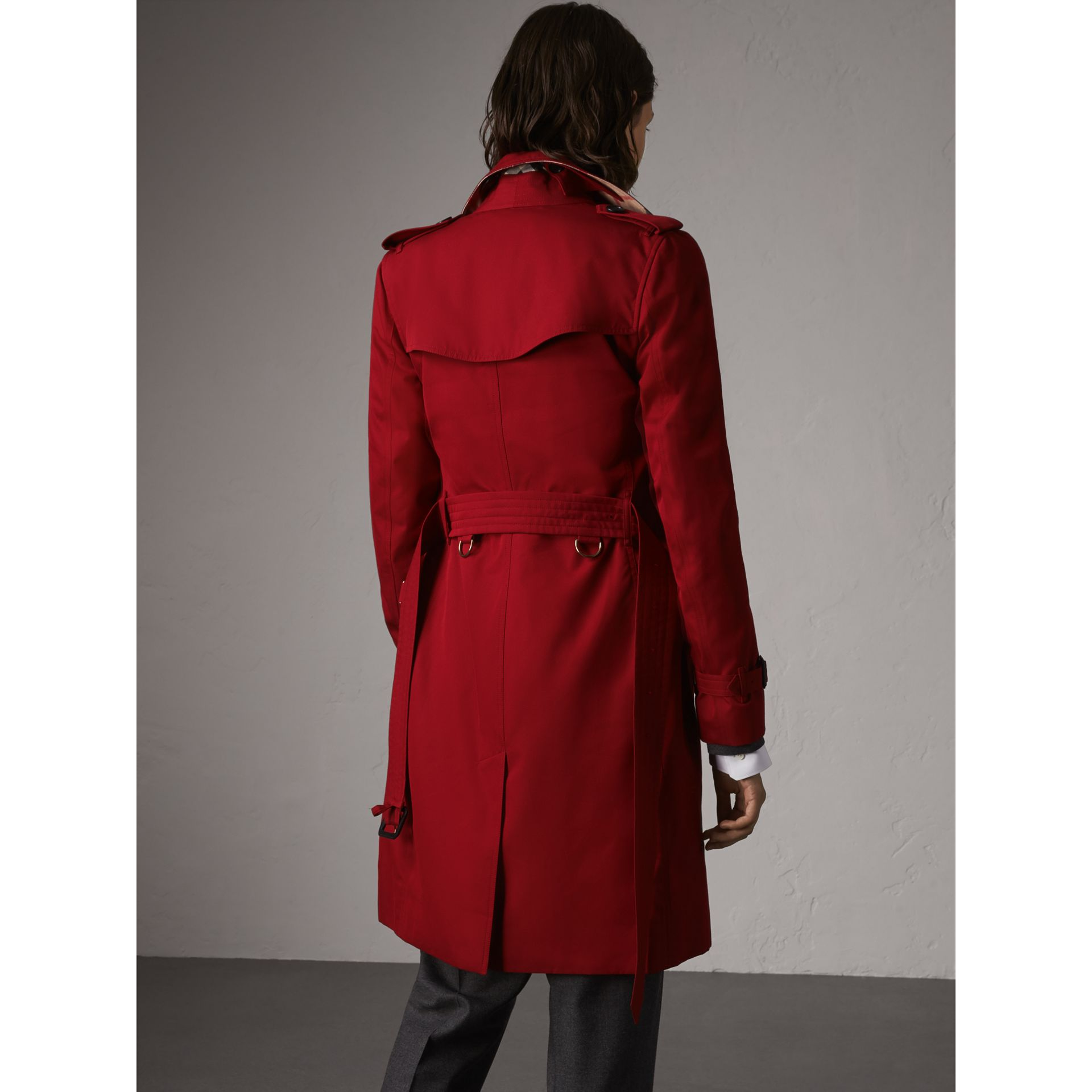 The Kensington – Long Trench Coat in Parade Red - Women | Burberry - gallery image 3