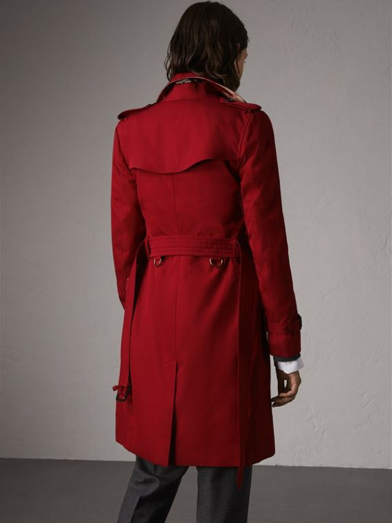 The Kensington – Long Trench Coat in Parade Red - Women | Burberry - cell image 2