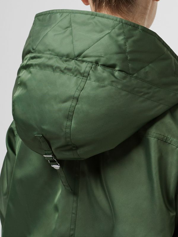 Faux Fur Trim Parka with Detachable Warmer in Grass Green - Women | Burberry - cell image 3