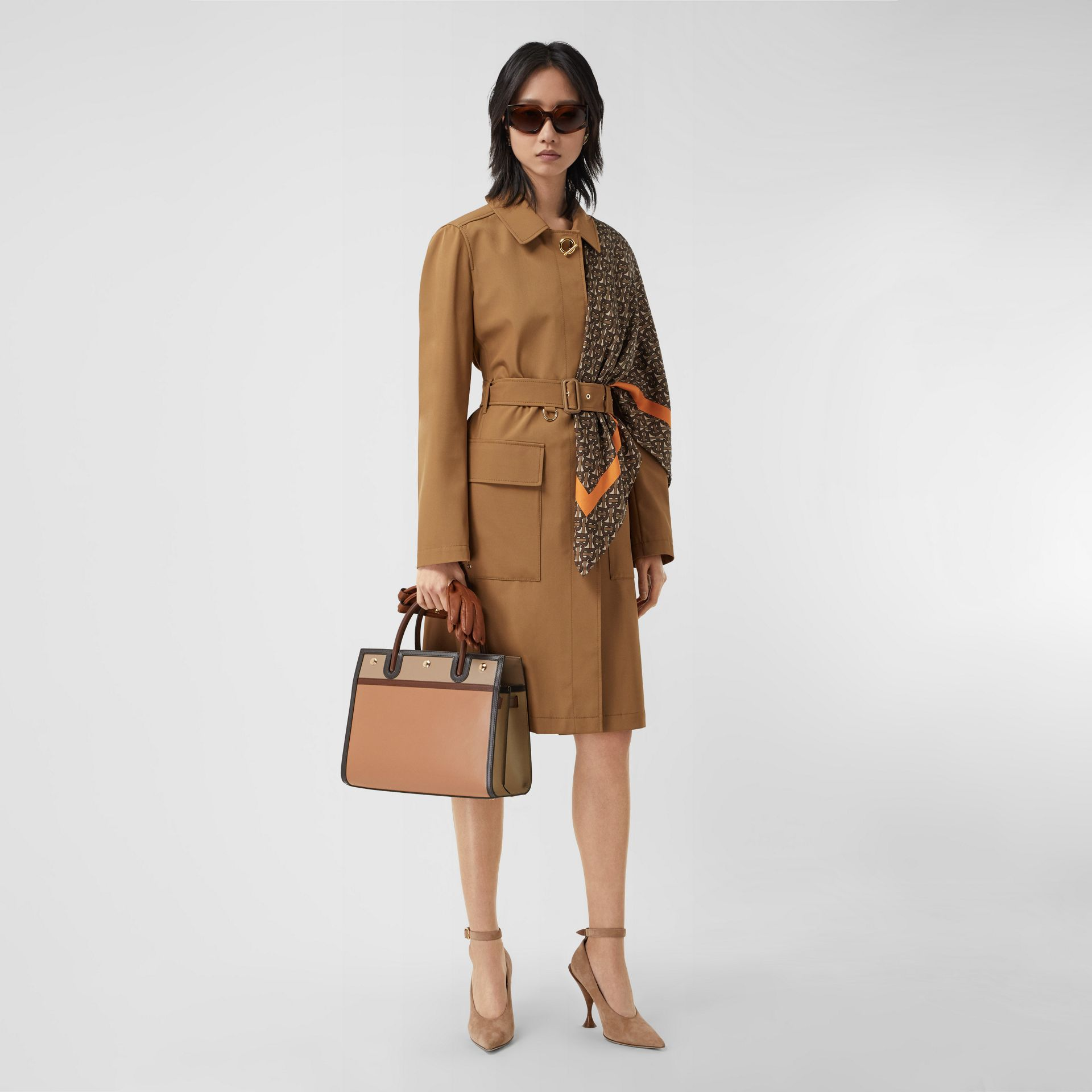 Small Leather Two-handle Title Bag in Soft Fawn - Women | Burberry - gallery image 5