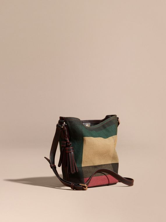 The Small Ashby in Printed Canvas Check and Leather