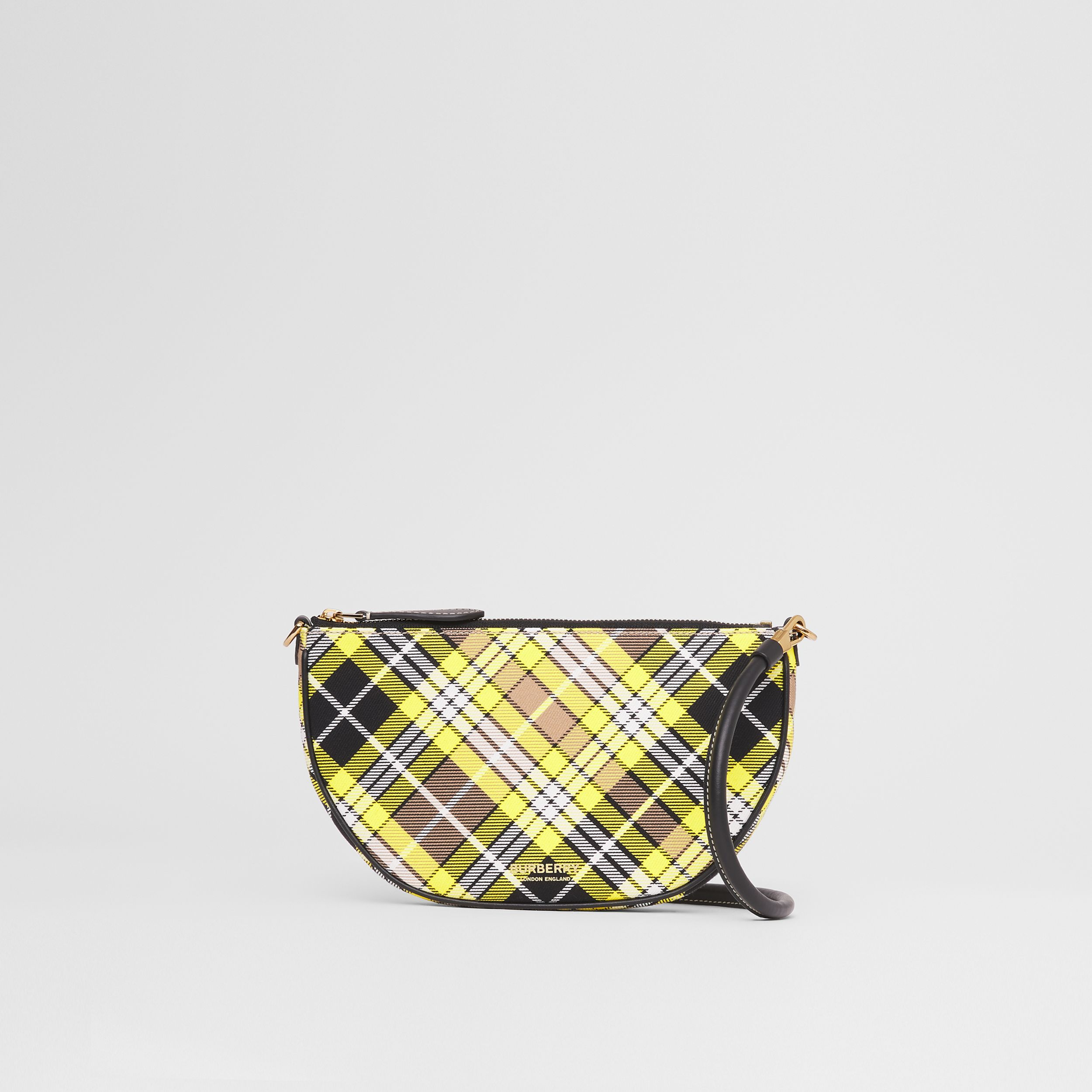 Tartan Cotton Olympia Pouch in Marigold Yellow - Women | Burberry Hong Kong S.A.R. - 4