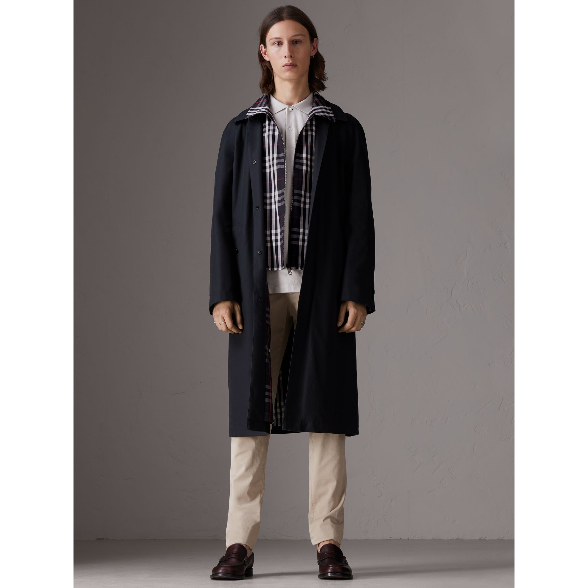 Gosha x Burberry Reconstructed Car Coat in Navy | Burberry - gallery image 0