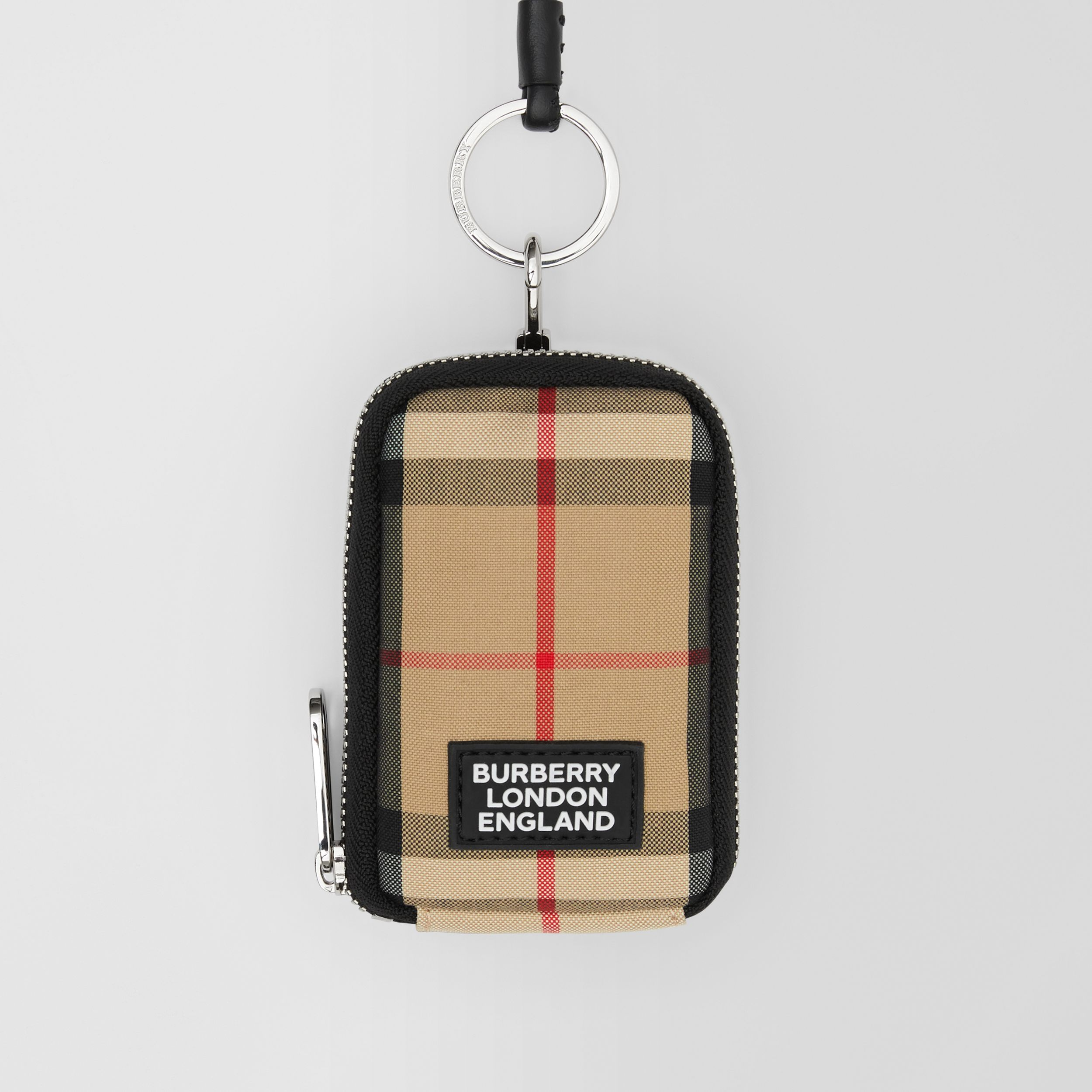 Logo Appliqué Vintage Check Card Case Lanyard in Archive Beige - Men | Burberry - 2