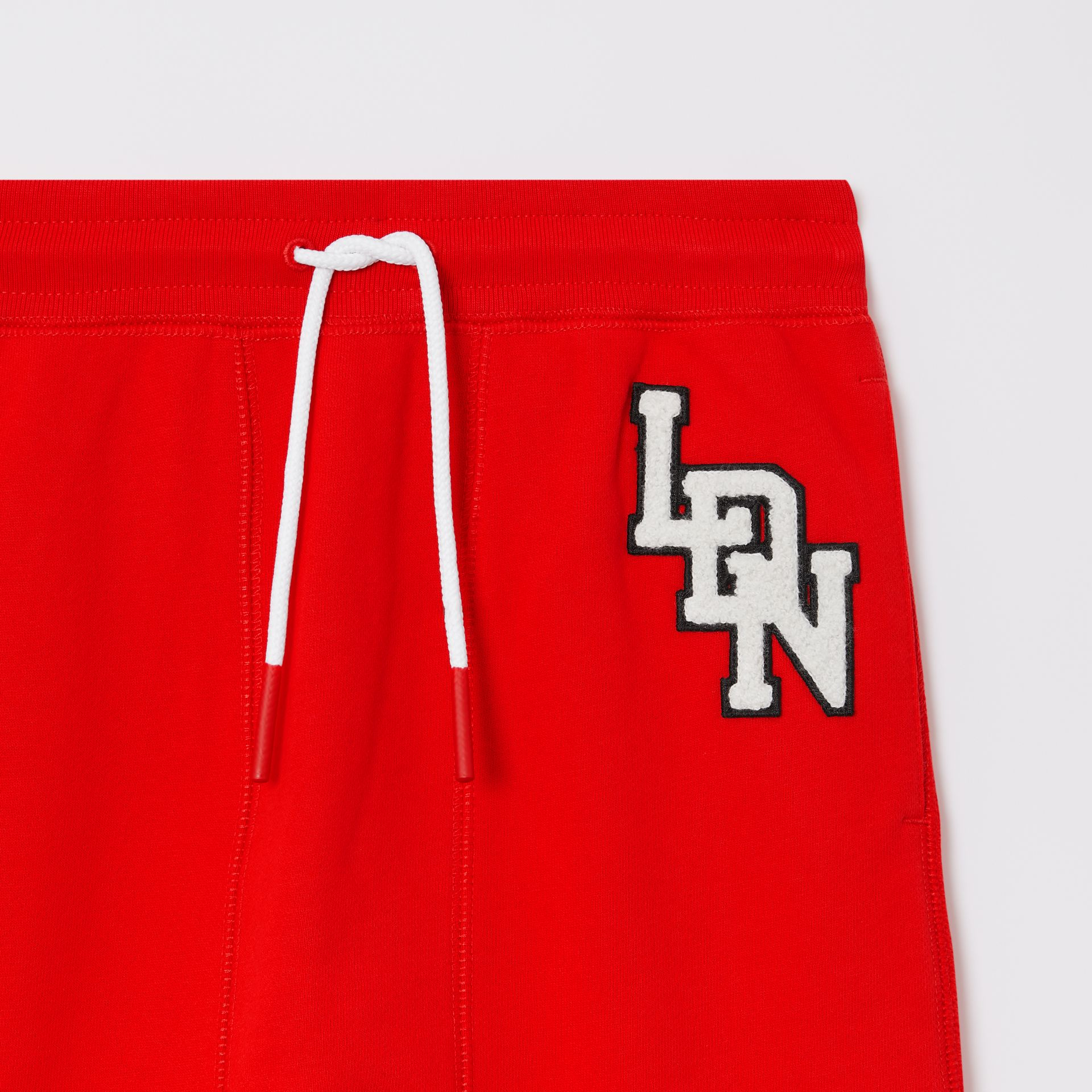 Logo Graphic Cotton Trackpants in Bright Red - Boy | Burberry United States - gallery image 4