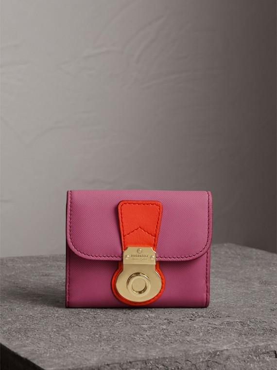 Carteira de couro Trench (Rosa Pink)