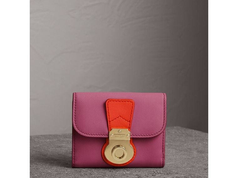 Trench Leather Wallet in Rose Pink - Women | Burberry United Kingdom - cell image 4