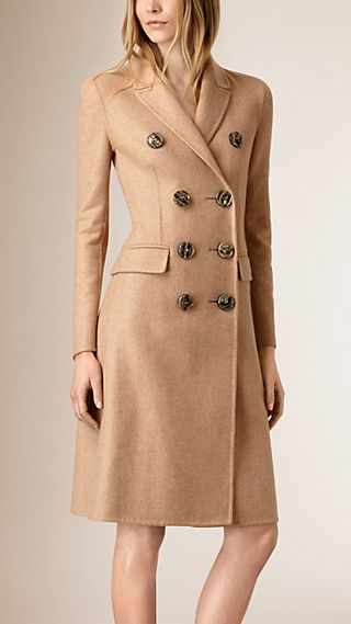 High Waist Cashmere Coat