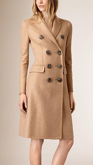 Manteau taille haute en cachemire
