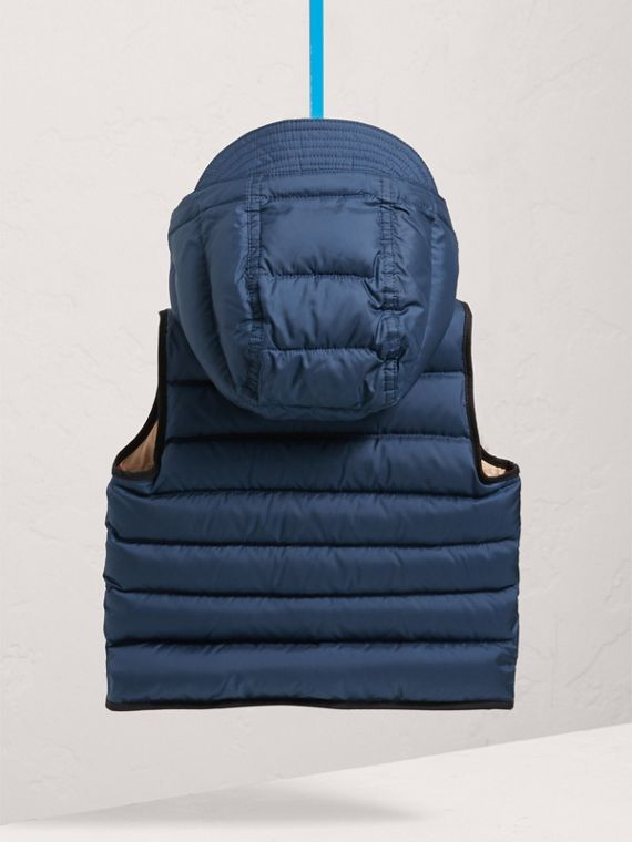 Down-filled Hooded Gilet in Ink Blue | Burberry Singapore - cell image 3