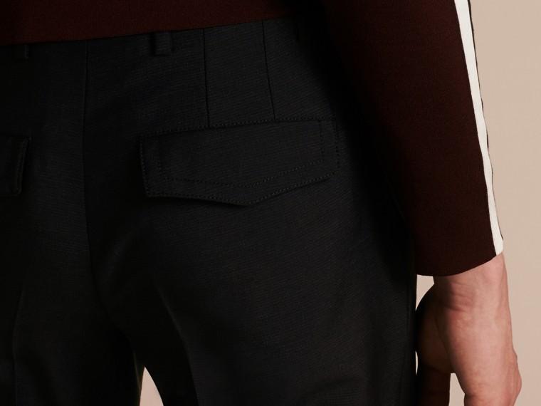 Blu peltro Pantaloni a fondo ampio in misto mohair e lana - cell image 4
