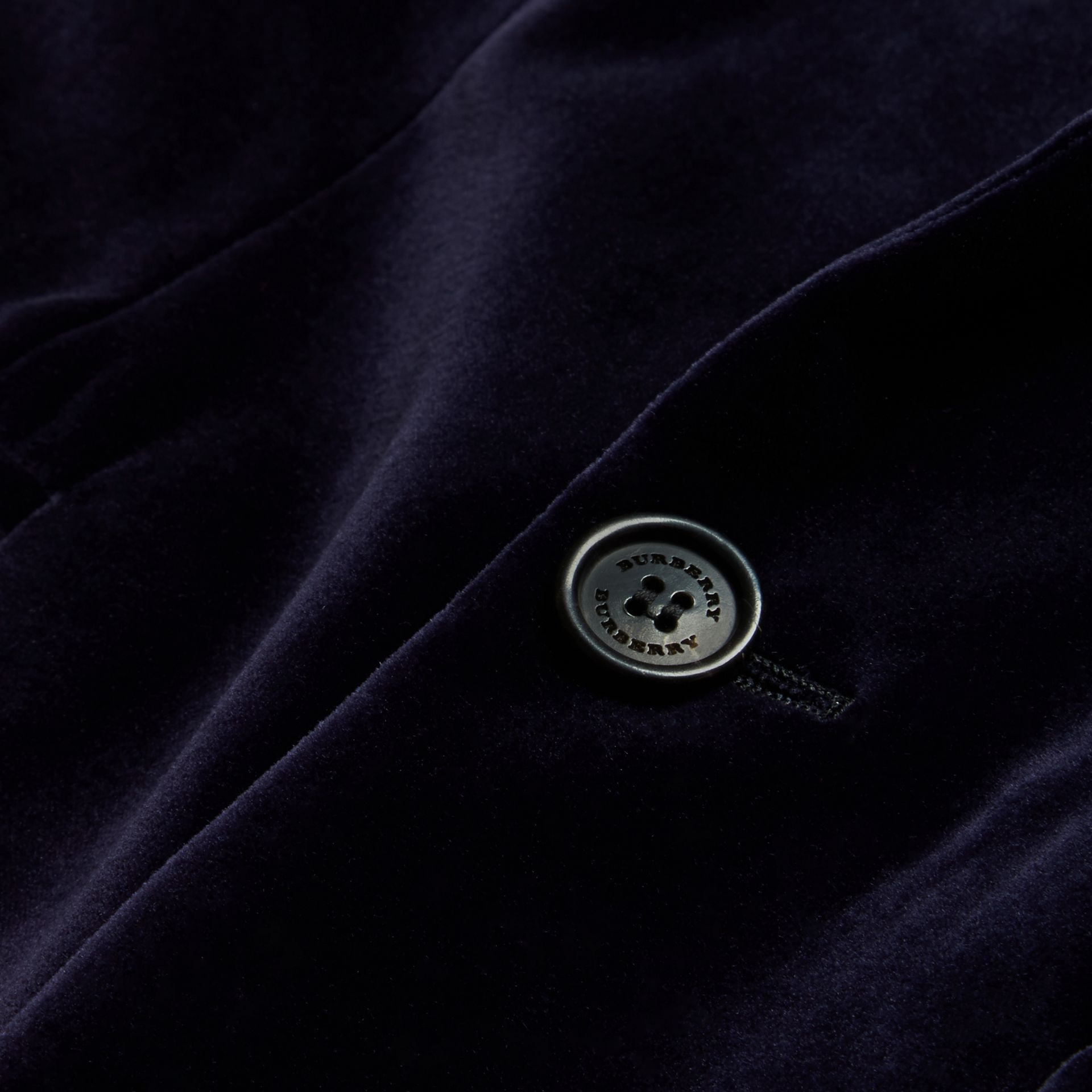Indigo purple Slim Fit Tailored Velvet Jacket Indigo Purple - gallery image 2