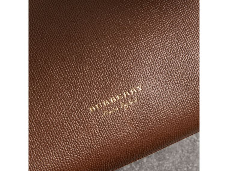 The Small Banner in Leather and House Check in Tan - Women | Burberry United Kingdom - cell image 1
