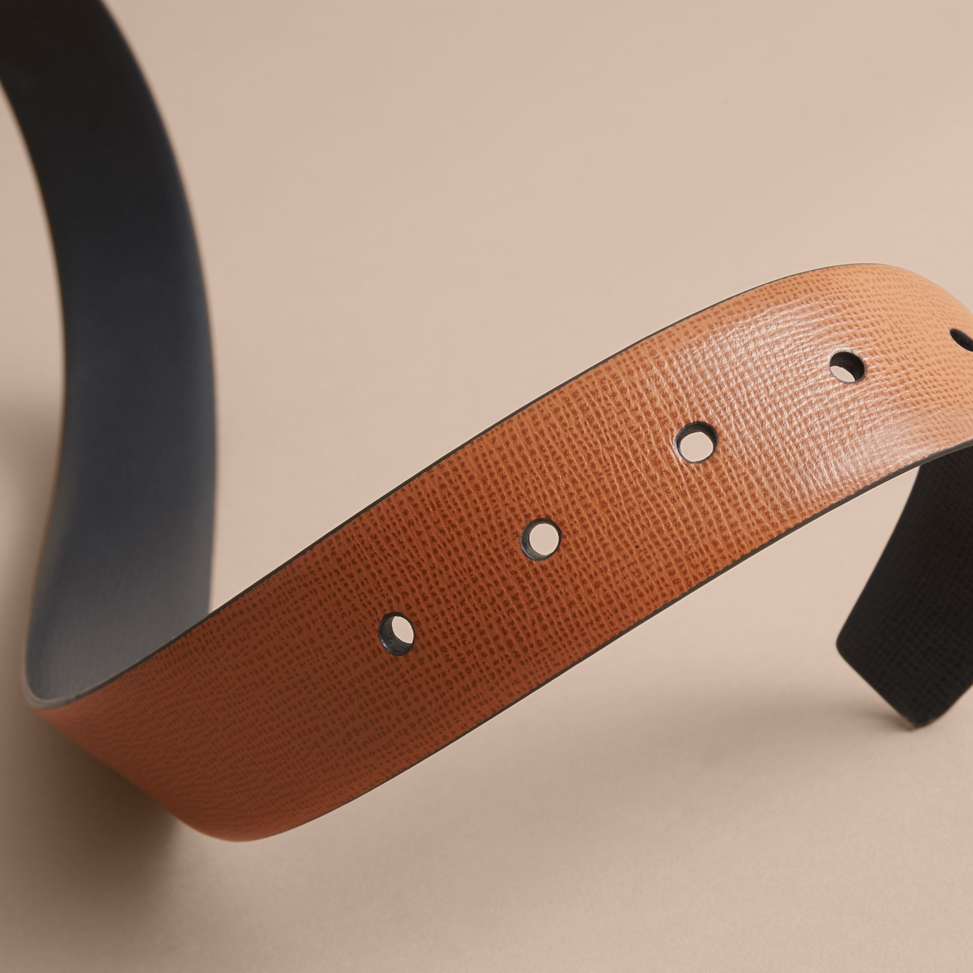 Reversible London Leather Belt in Tan/black - gallery image 5