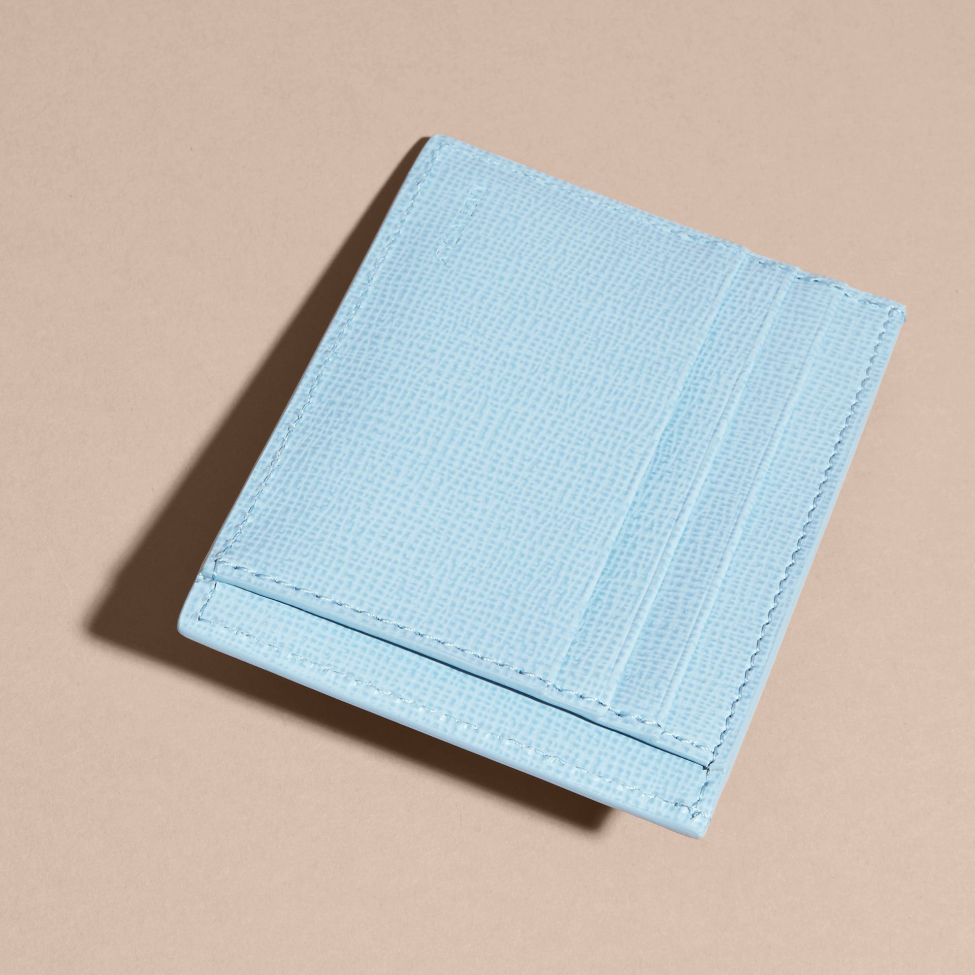 London Leather Card Case Powder Blue - gallery image 3