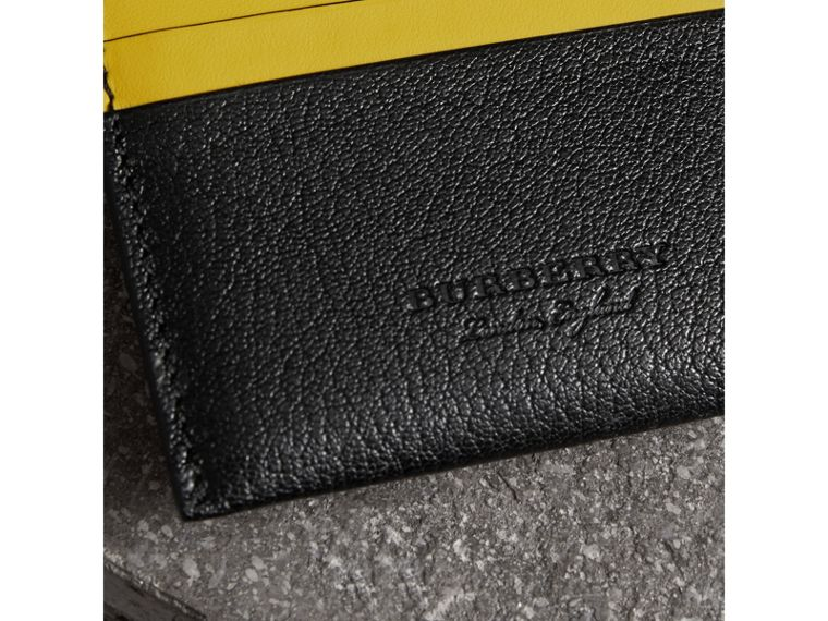 Two-tone Leather Card Case in Black - Women | Burberry - cell image 1
