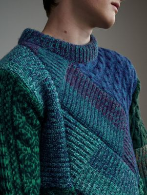 Men's Patchwork of Knits   Burberry United States