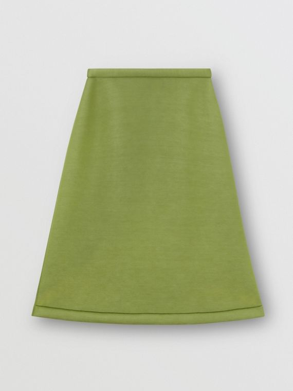 Double-faced Neoprene Skirt in Cedar Green