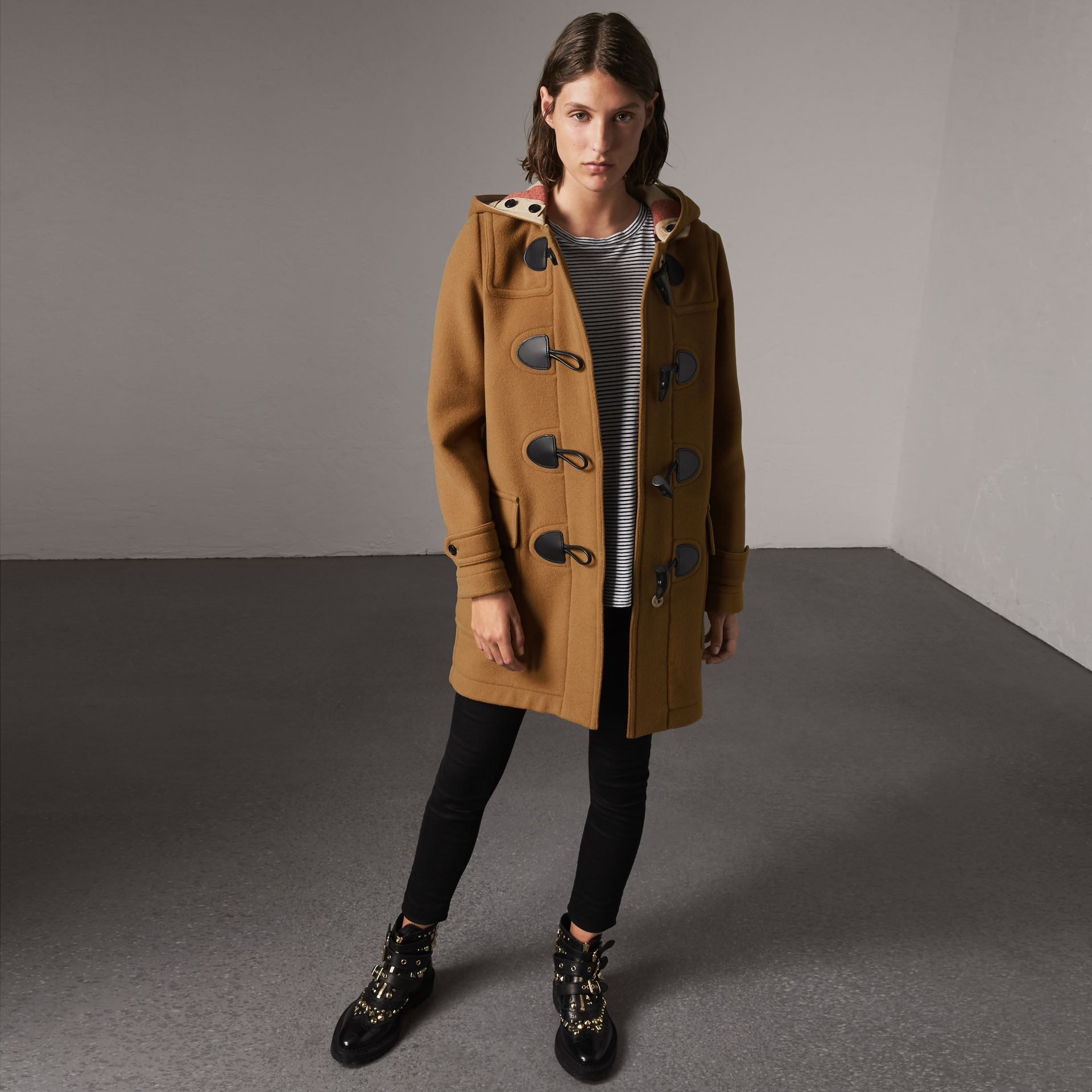 The Mersey Duffle Coat in Mid Camel - Women | Burberry Singapore - gallery image 0