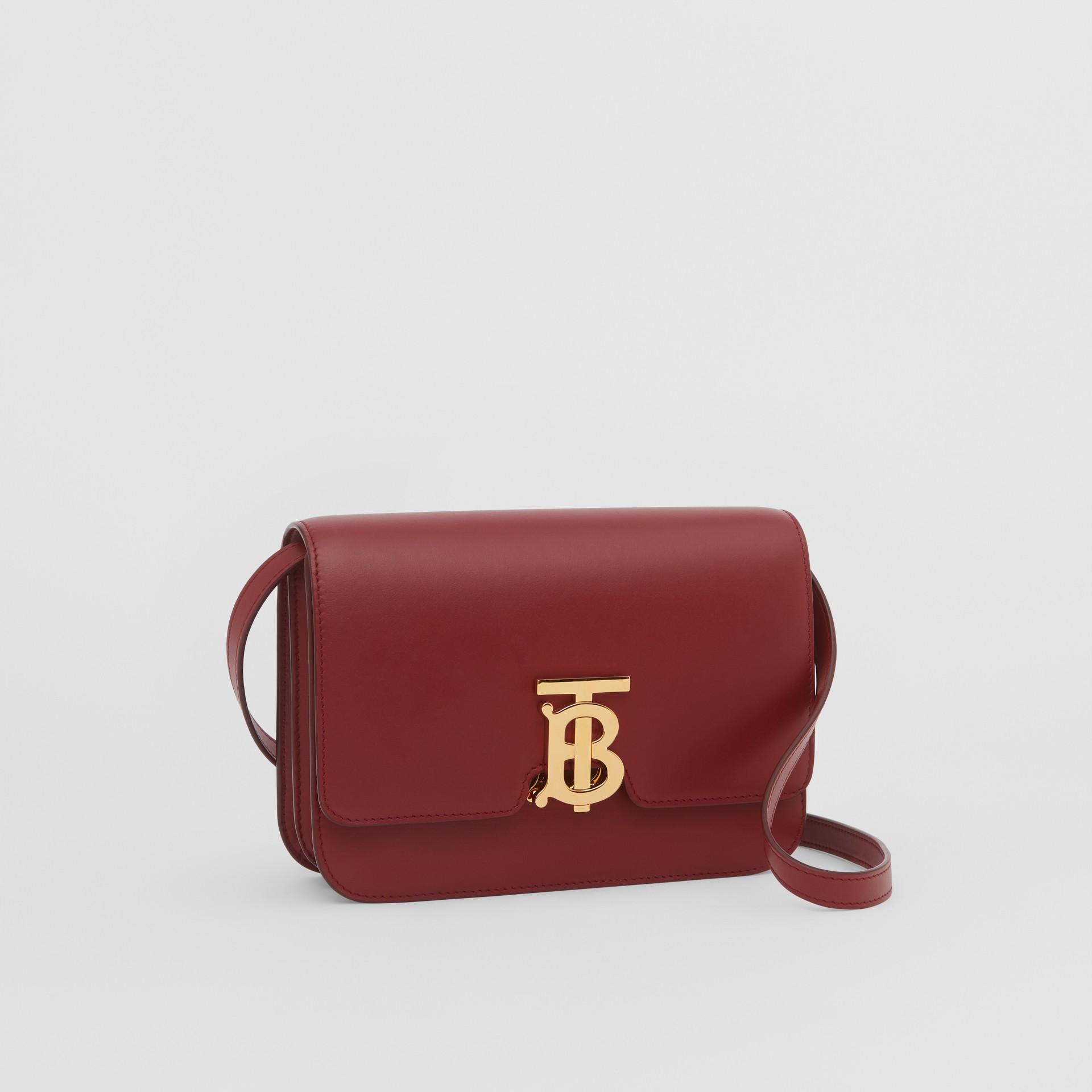 Small Leather TB Bag in Dark Crimson - Women   Burberry - gallery image 6