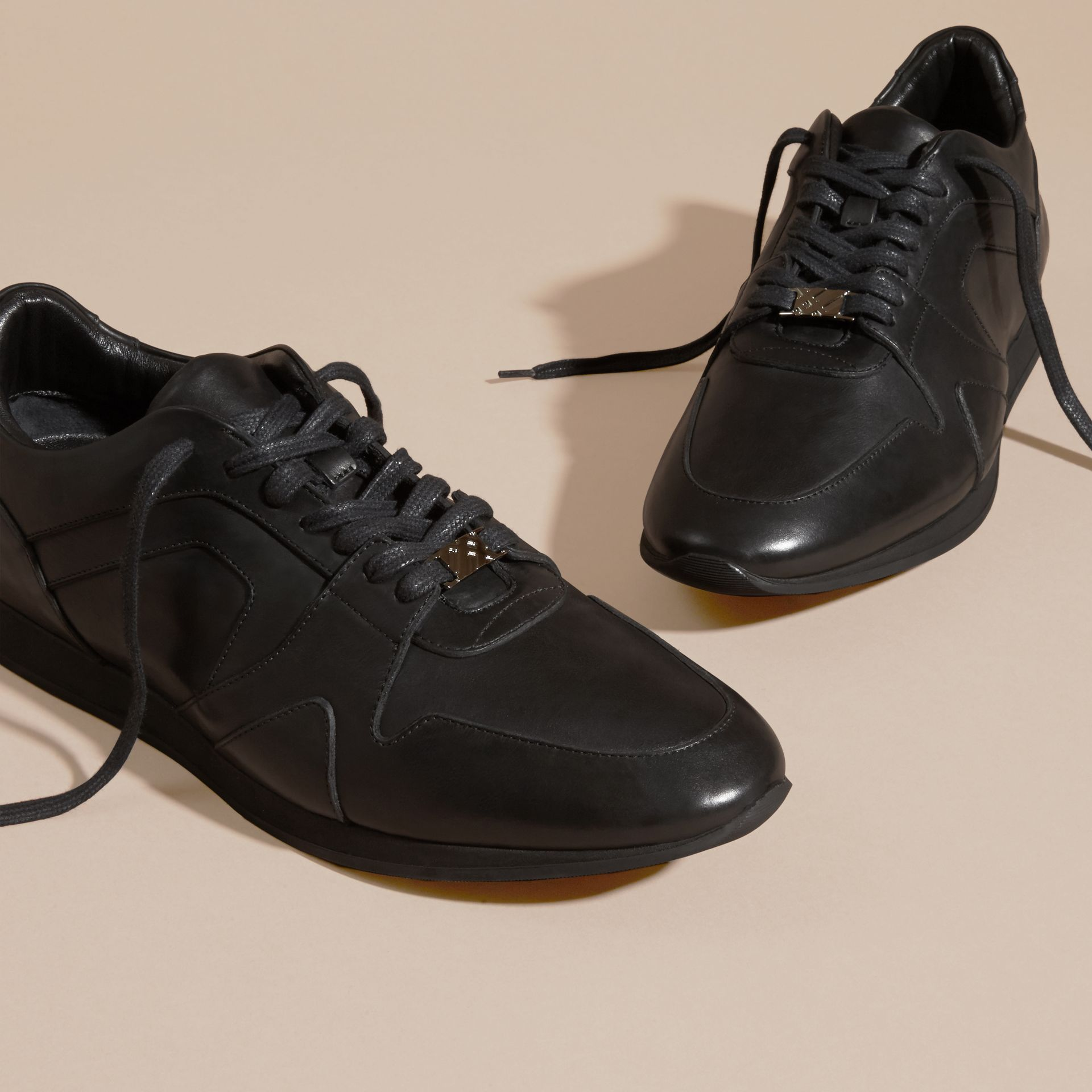 Black The Field Sneaker in Leather Black - gallery image 3