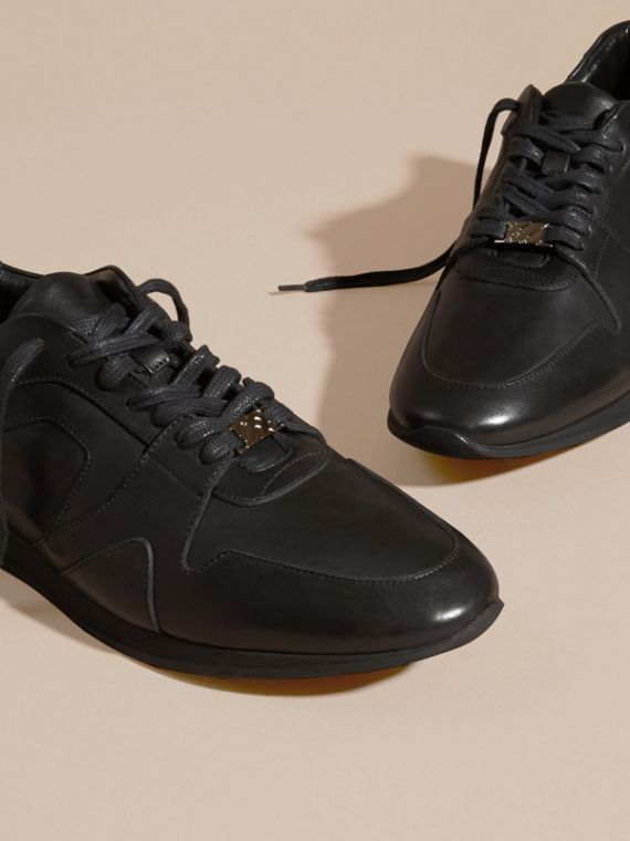 Nero Sneaker Field in pelle Nero - cell image 2