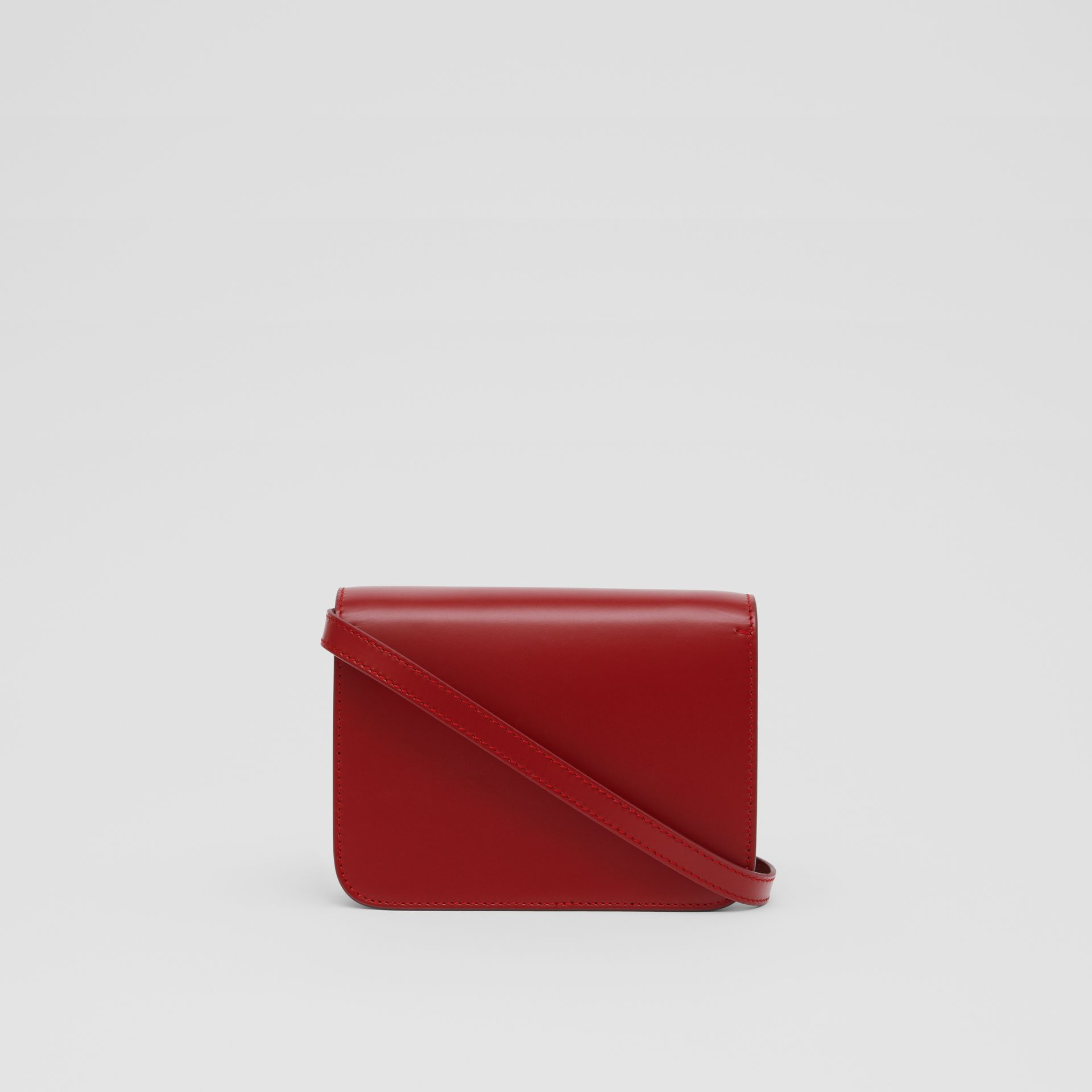 Mini Leather TB Bag in Dark Carmine - Women | Burberry - gallery image 7