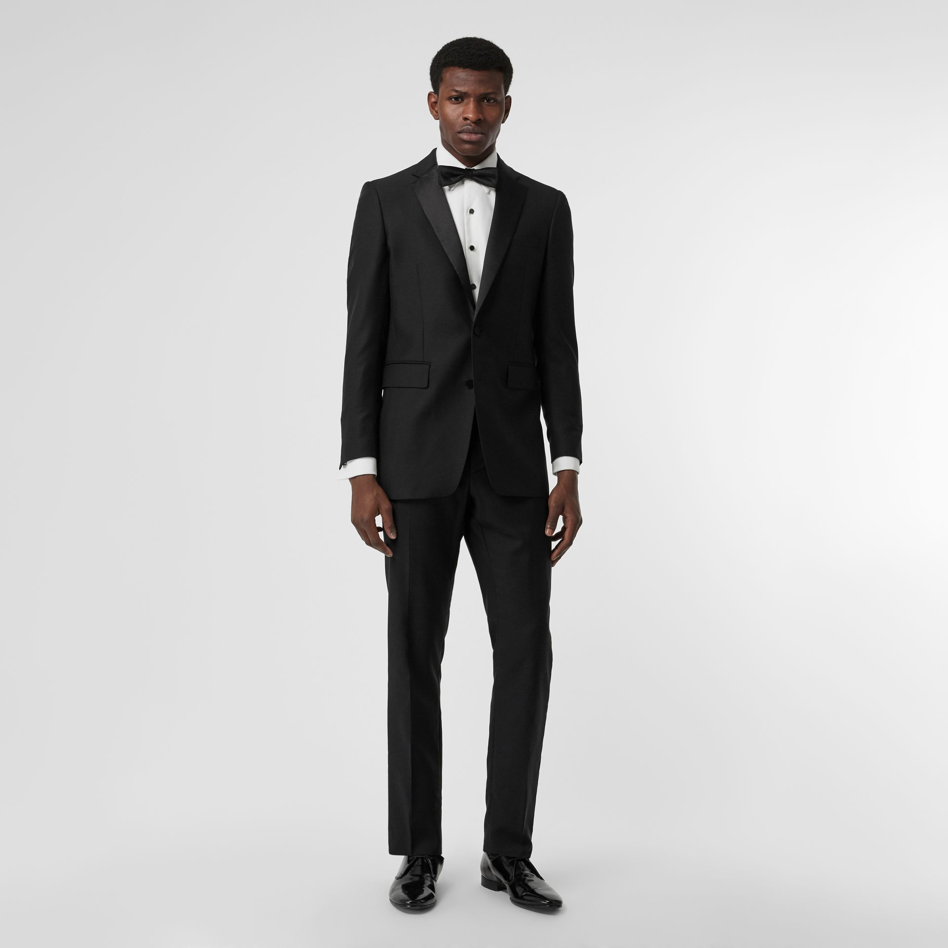 Modern Fit Wool Mohair Tuxedo in Black - Men | Burberry - gallery image 0