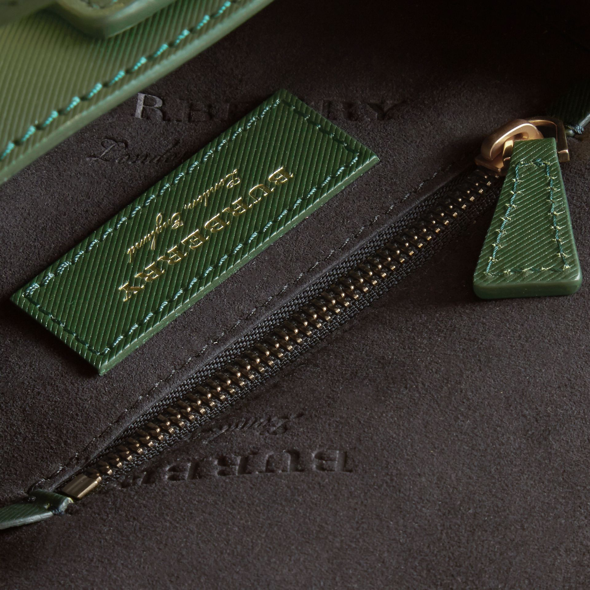 The Mini DK88 Barrel Bag in Dark Forest Green - Women | Burberry United States - gallery image 4