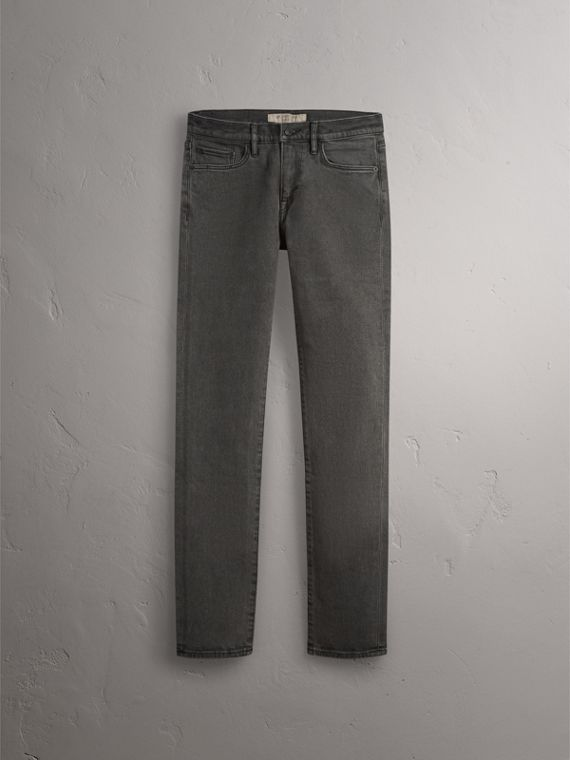 Slim Fit Stretch Japanese Denim Jeans - Men | Burberry - cell image 3