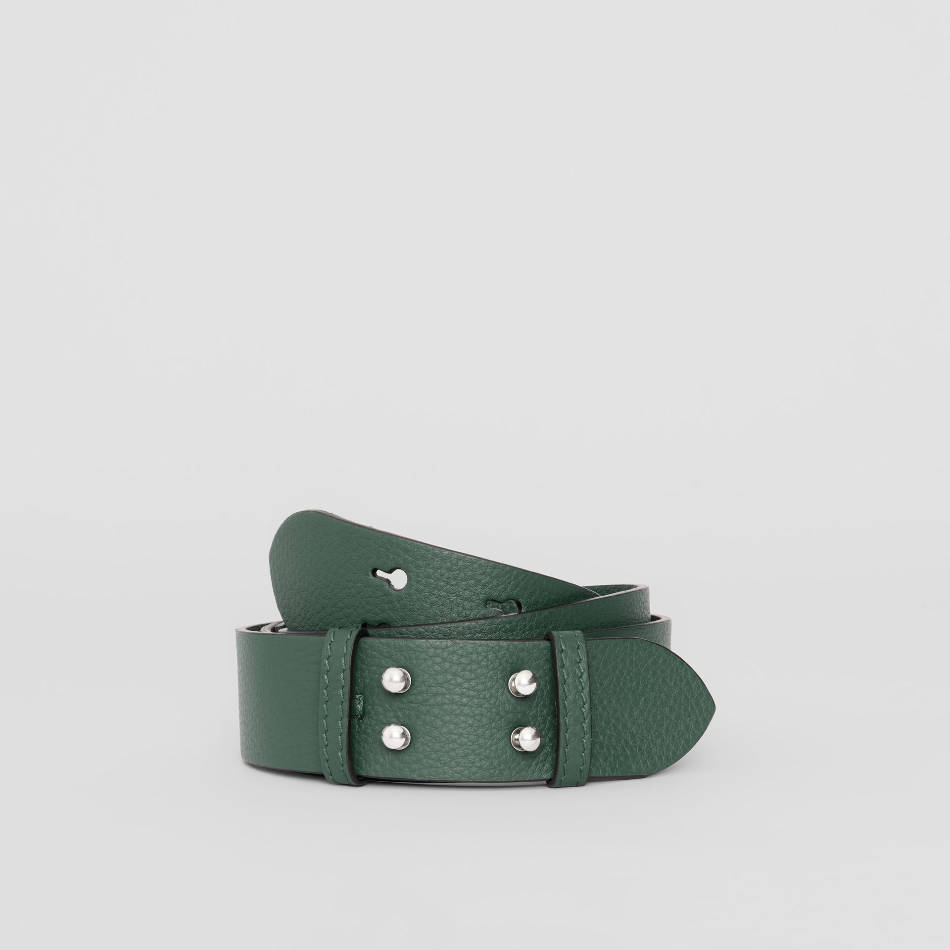 The Medium Belt Bag Grainy Leather Belt in Sea Green - Women | Burberry Australia - gallery image 0