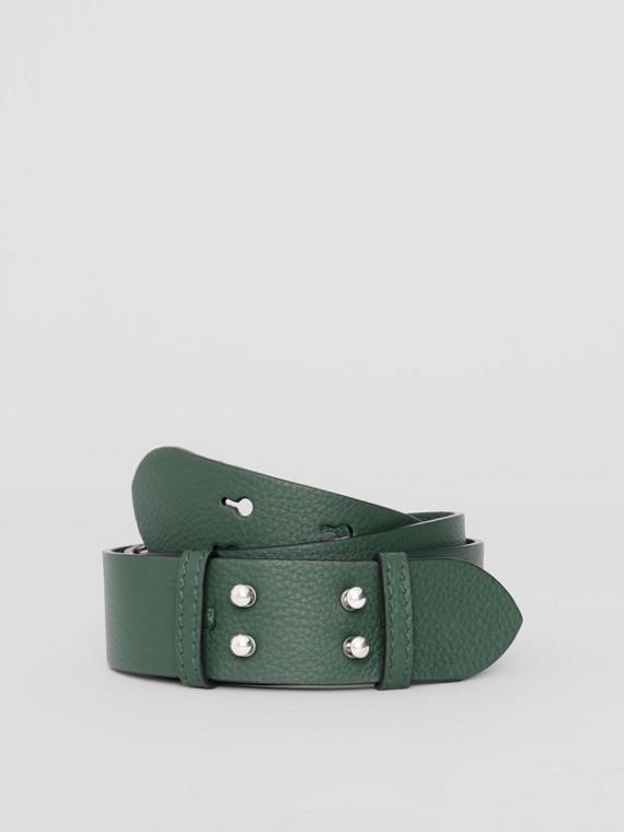 Cinto em couro granulado para bolsa Belt média (Verde Oceano)