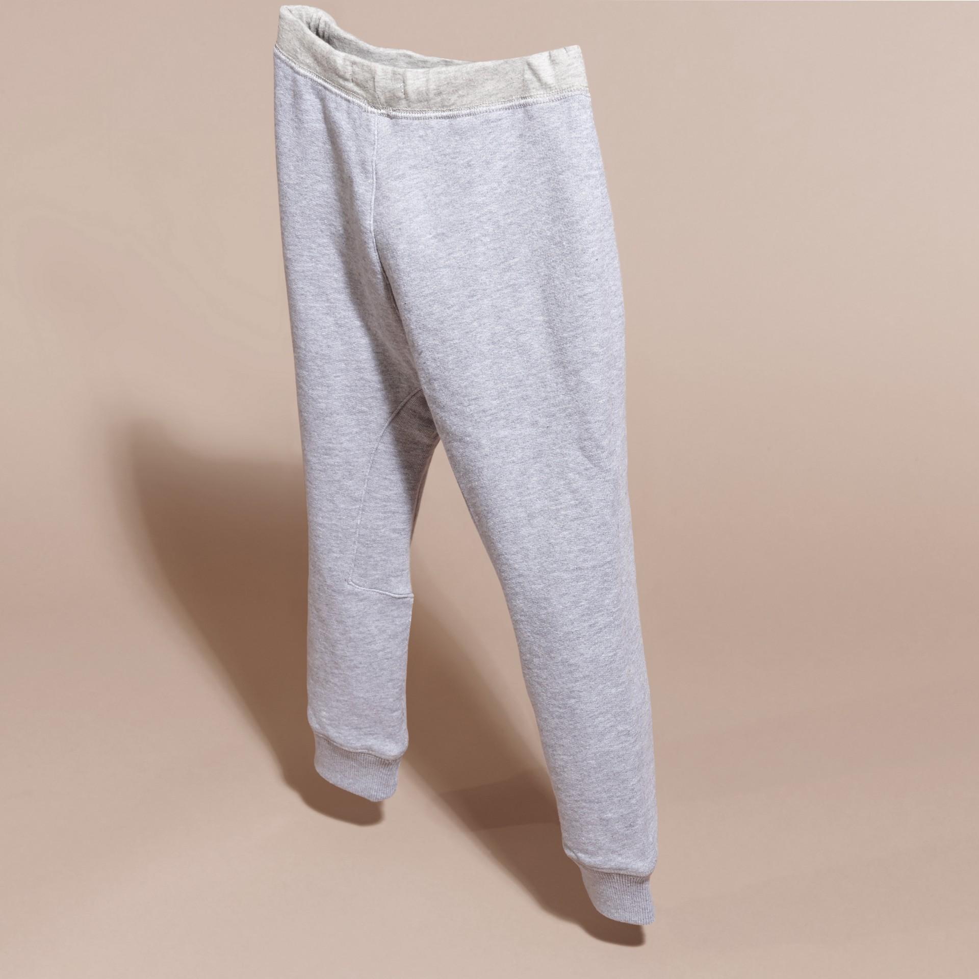 Grigio medio mélange Pantaloni tuta in cotone Grigio Medio Mélange - immagine della galleria 4