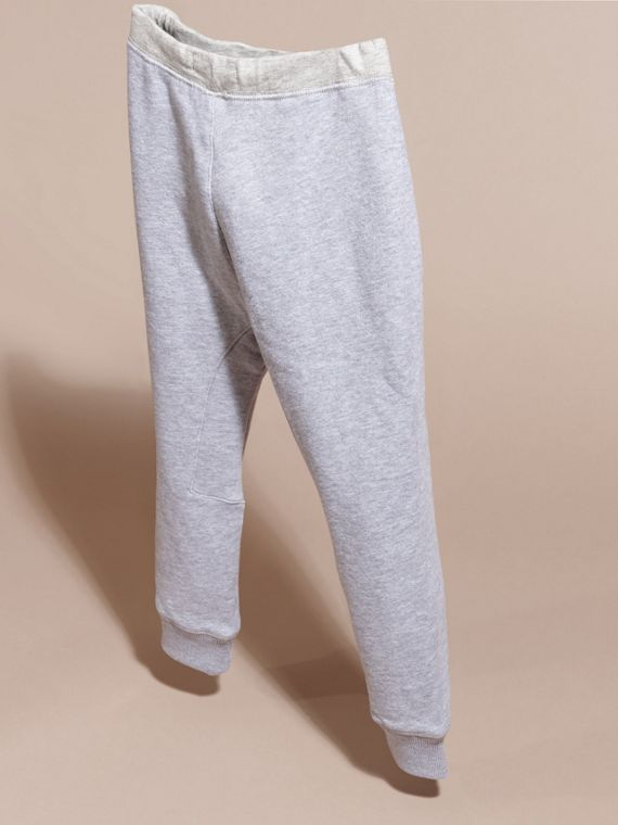 Mid grey melange Cotton Sweat Pants Mid Grey Melange - cell image 3