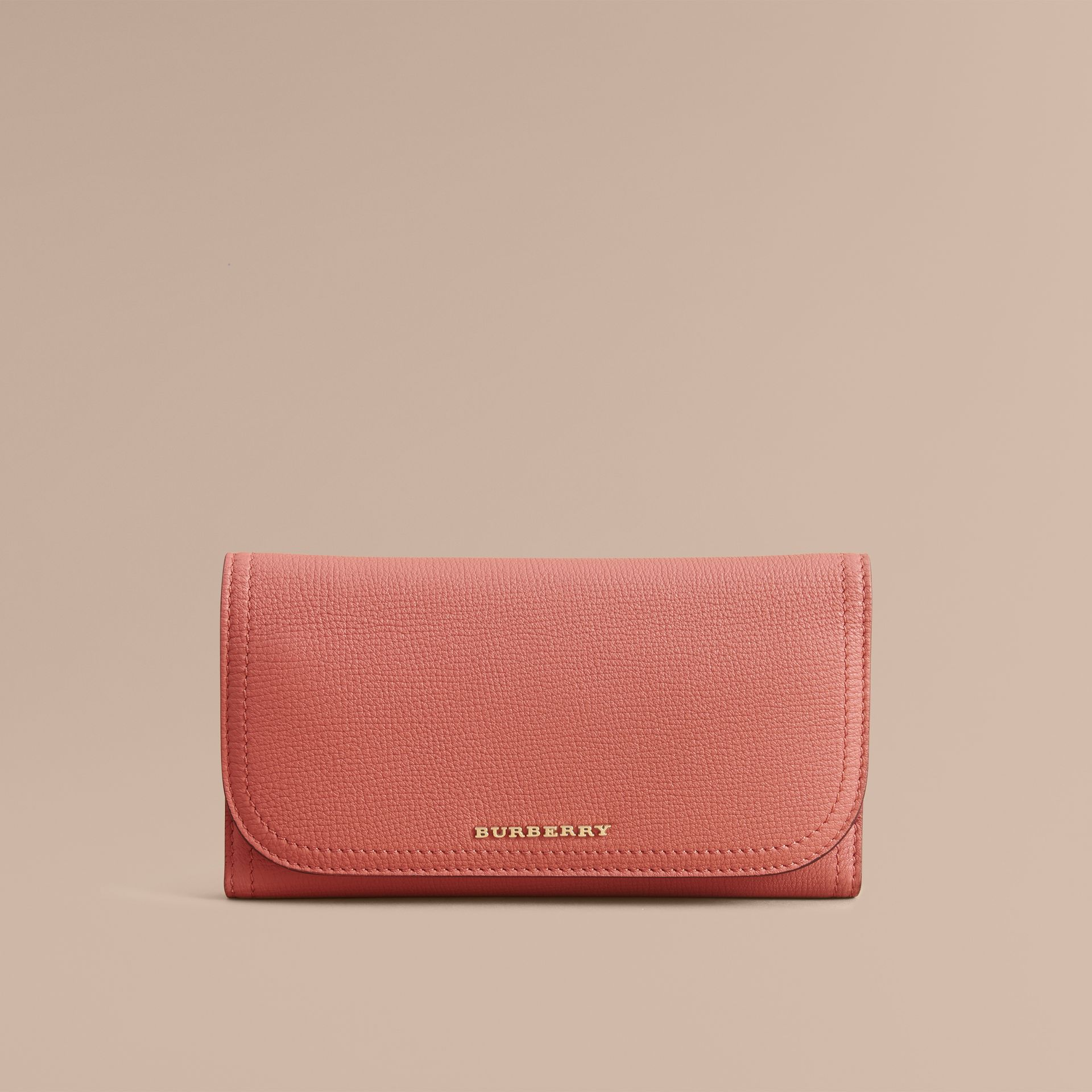 Two-tone Leather Continental Wallet and Coin Case in Cinnamon Red/multi - Women | Burberry - gallery image 3