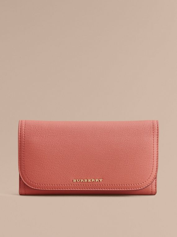 Two-tone Leather Continental Wallet and Coin Case in Cinnamon Red/multi - Women | Burberry - cell image 2