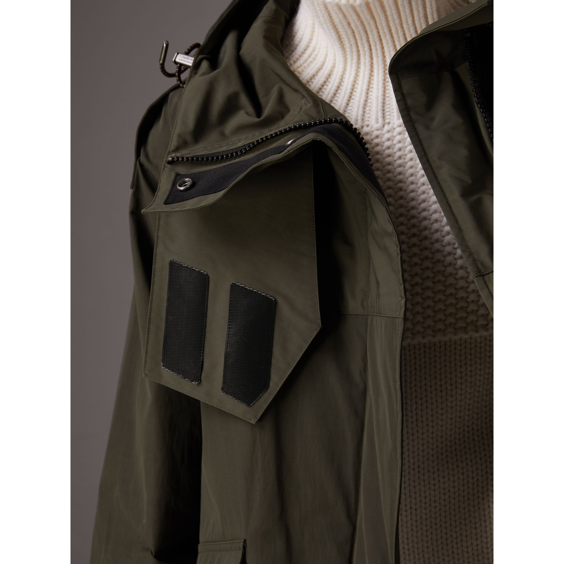Hooded Parka with Quilted Lining in Dark Forest Green - Women | Burberry - gallery image 1