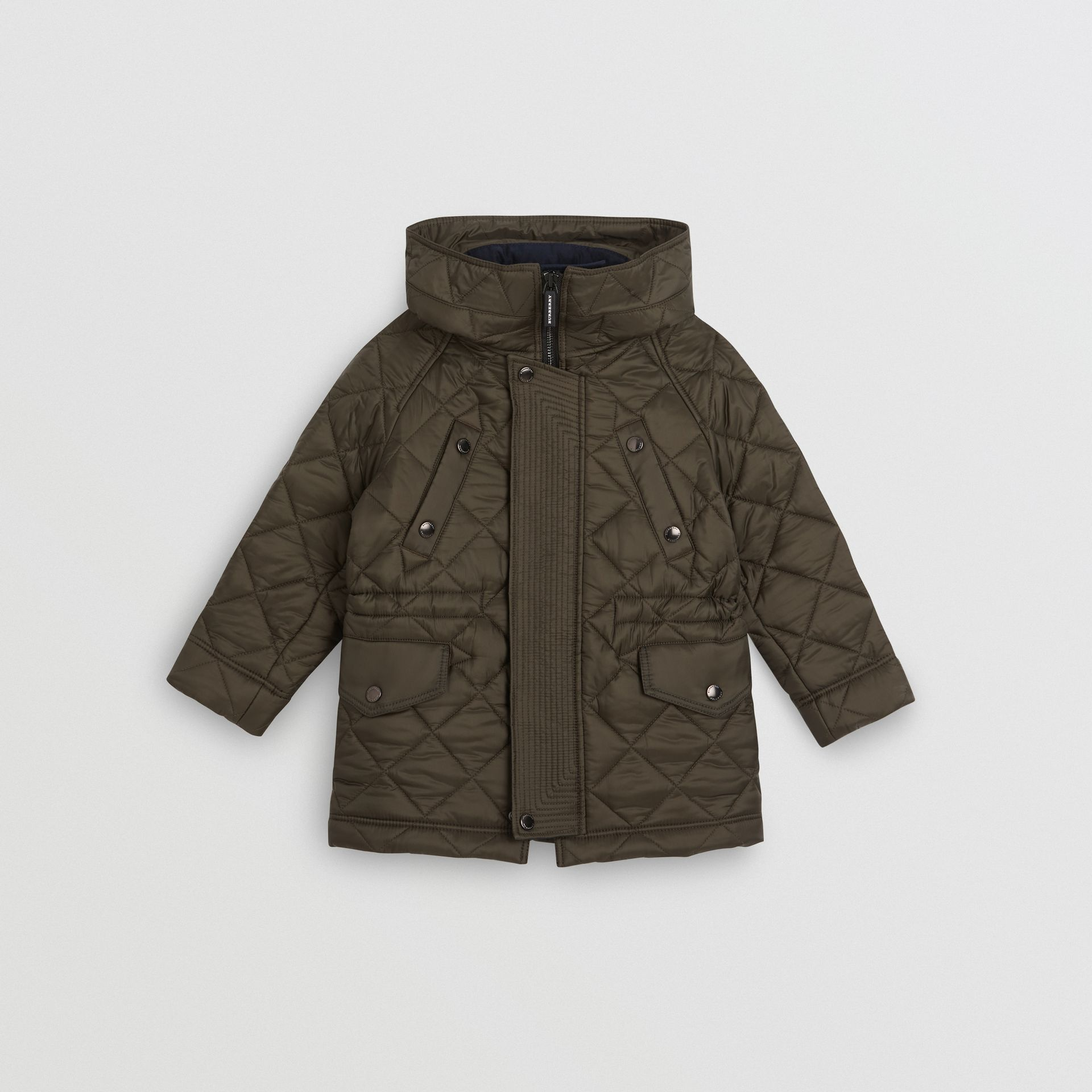 Diamond Quilted Hooded Jacket in Oregano - Boy | Burberry United States - gallery image 0