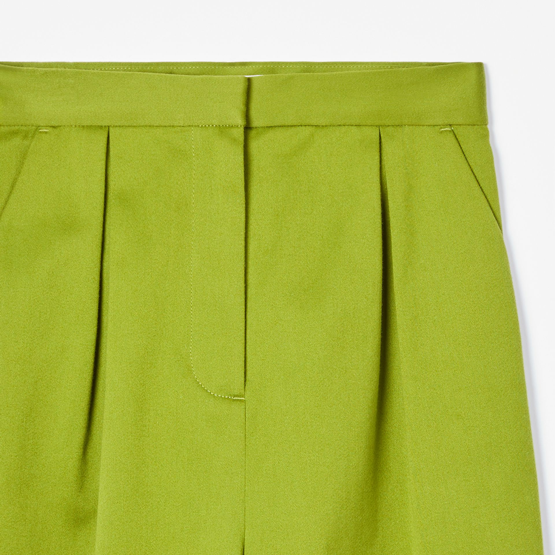 Cotton Sateen Tapered Trousers in Bright Green - Girl | Burberry - gallery image 4