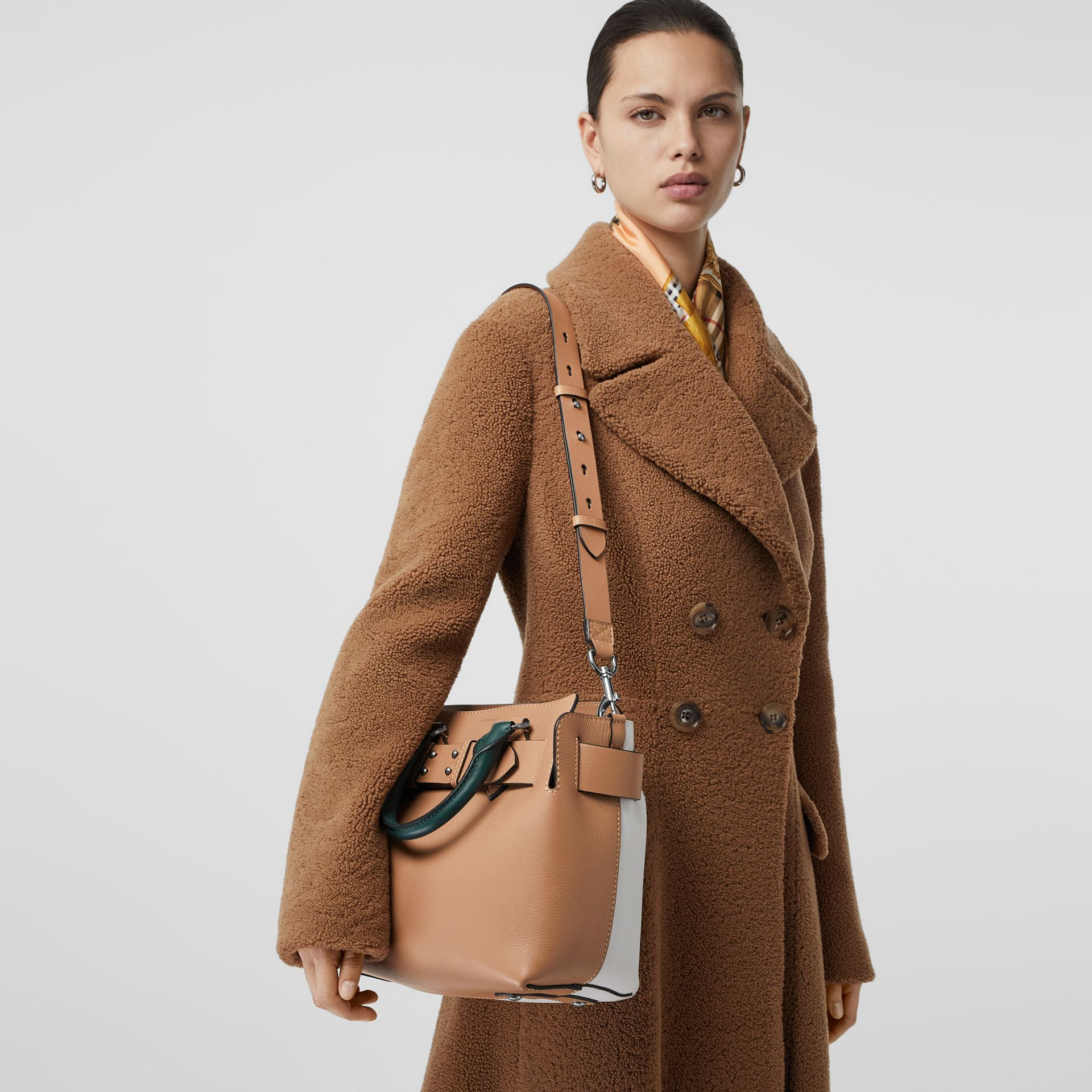 The Small Tri-tone Leather Belt Bag in Light Camel - Women | Burberry United Kingdom - gallery image 3