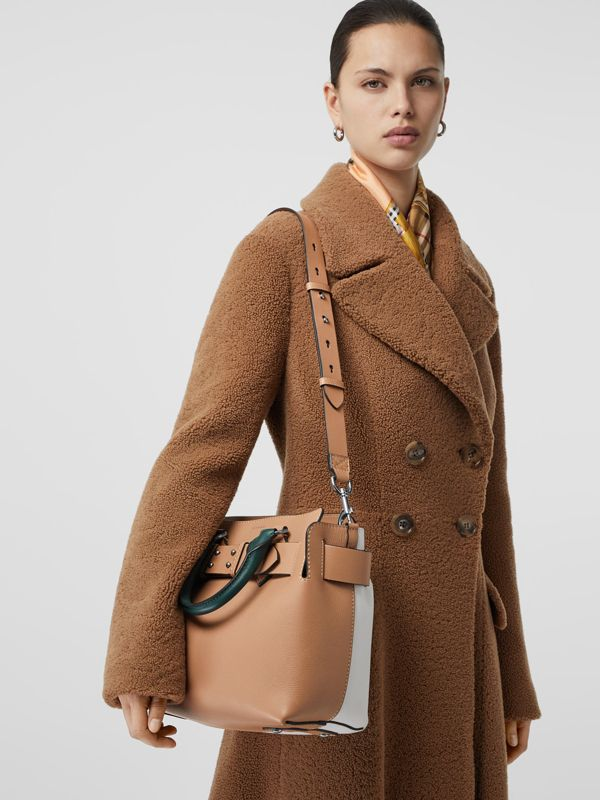 The Small Tri-tone Leather Belt Bag in Light Camel - Women | Burberry United Kingdom - cell image 3