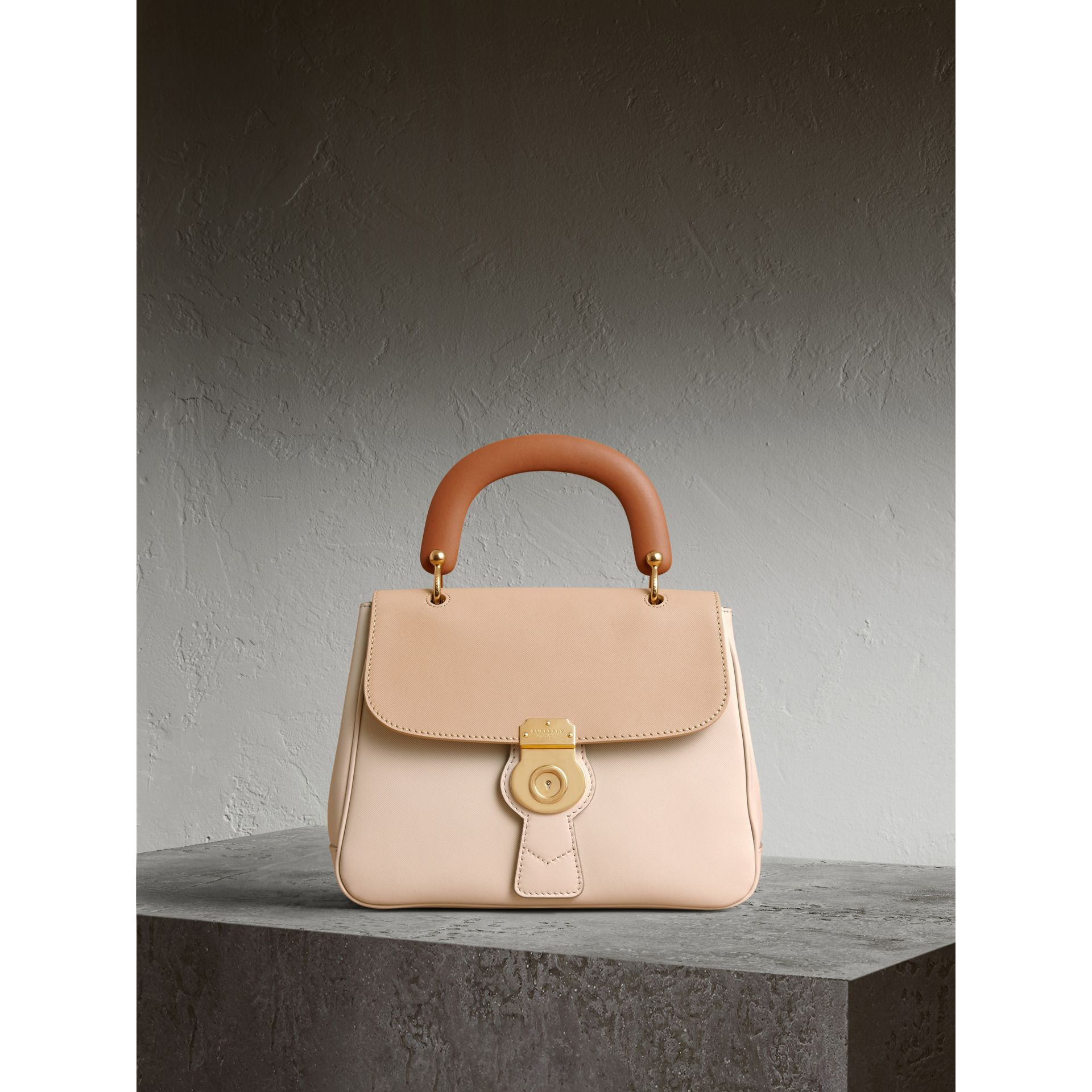 The Medium DK88 Top Handle Bag in Limestone/honey - Women | Burberry United States - gallery image 1