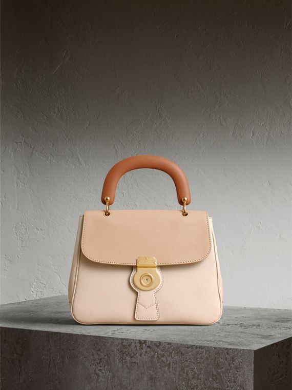 The Medium DK88 Top Handle Bag in Limestone/honey