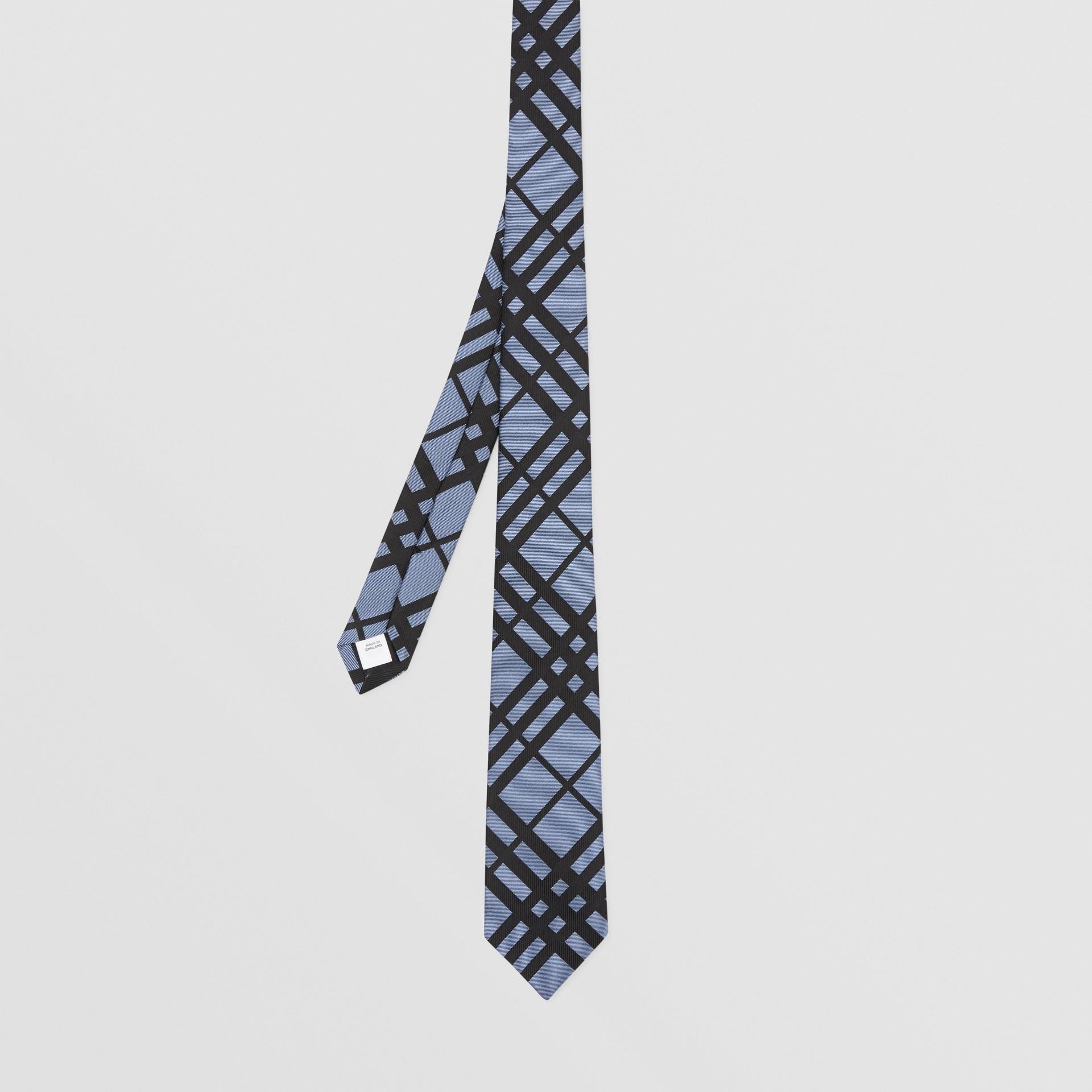 Classic Cut Check Silk Jacquard Tie in Chalk Blue - Men   Burberry - gallery image 4